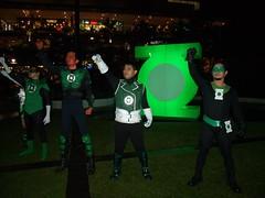 the Green Lantern cosplayers