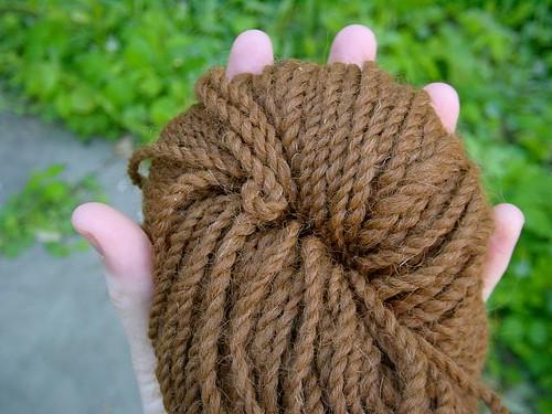 Local alpaca yarn, closeup