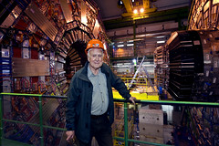 Peter Higgs visiting the CMS detector at CERN