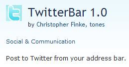 Go To TwitterBar Add-on For Flock