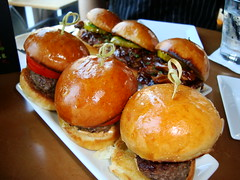 Kobe Beef Sliders and BBQ Pork Sliders