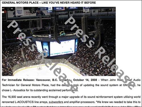 My photo used in a Senheiser Canada press release