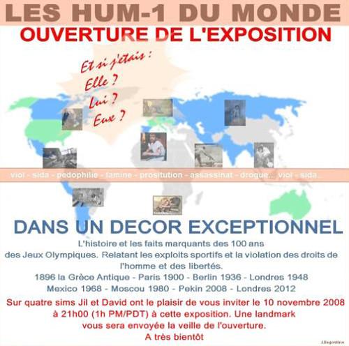Affiche de l expo des HUM-1 du Monde