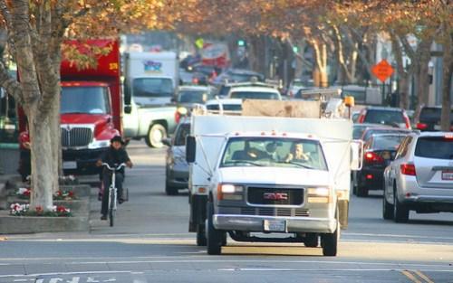Cyclist  Palo Alto University Avenue