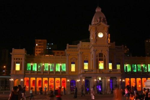 Natal na praça da estação