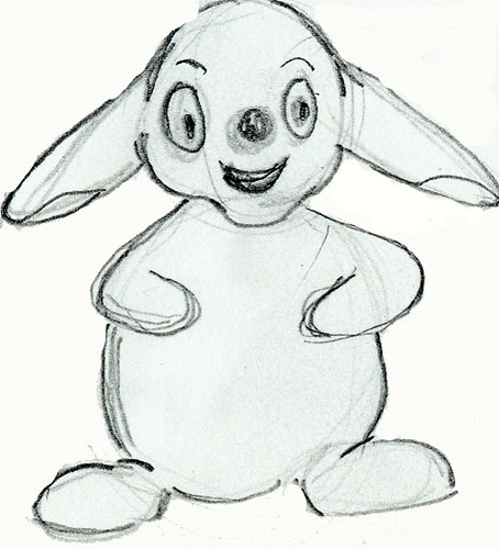 Quick bunny sketch done with pencil