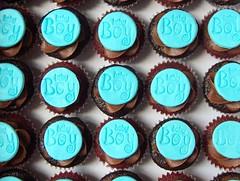 Baby Boy Mini Baby Shower Cupcakes