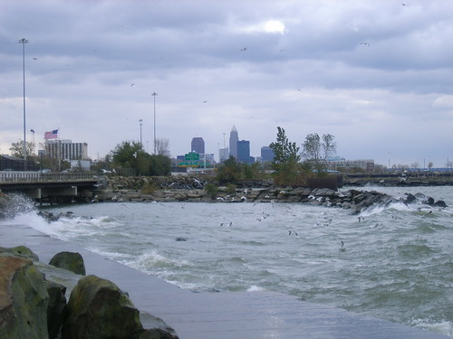 Edgewater Beach near Cleveland Ohio