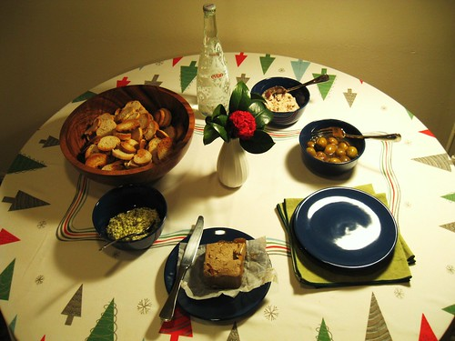 Our little Christmas Eve feast.