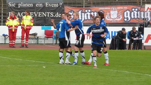 Bielefelder Jubel nach dem 0-3