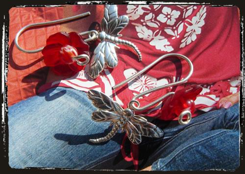Orecchini rossi - Red earrings MEHGLIR