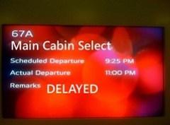 Virgin America Main Cabin Select Delayed