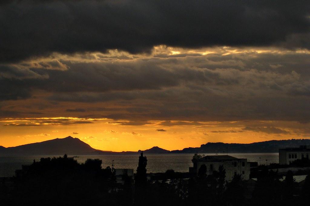 Ercolano, puesta de sol