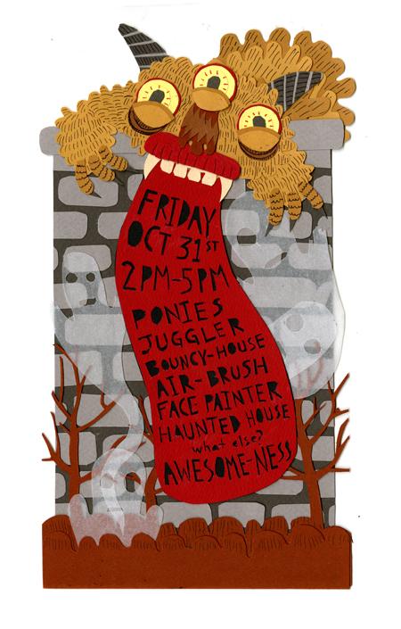 W+K Halloween Invite