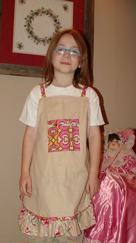 butterflygirls new apron for birthday