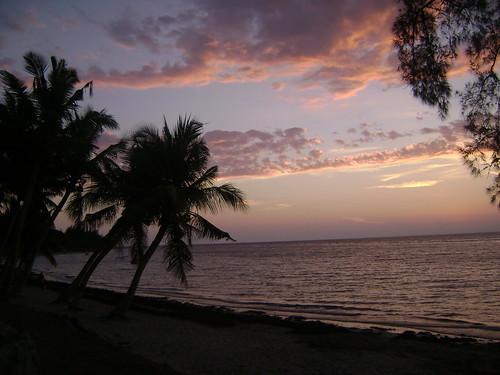 Ifaty beach at sunset.