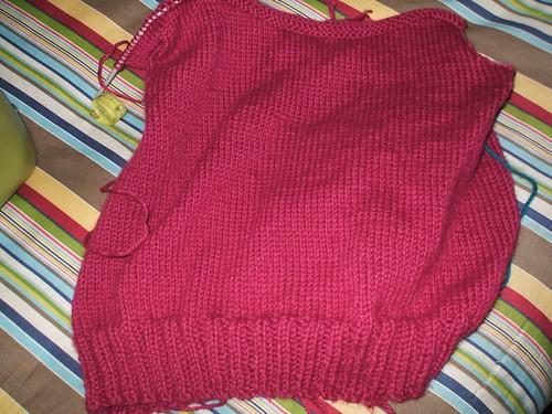 Hot pink vest