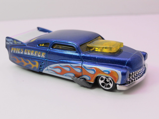 hot wheels '49 drag merc blue (2)
