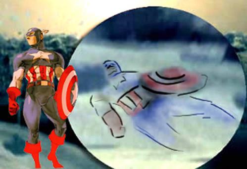 capitán américa en el increible hulk (2) por ti.