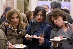 Tre donne e un buffet