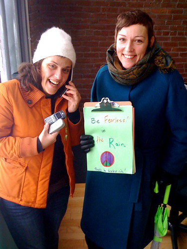 Donate phones to Fearless like Fearless Donors Carla and Anita from Rain Zine