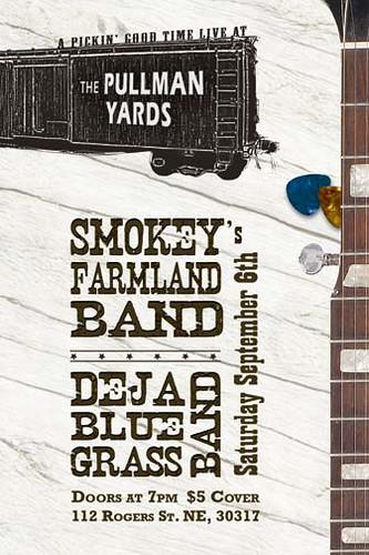 DejaBlue Grass Band and Smokey's Farmland Band on September 6th!