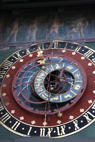 detail of astronomical portion of clock