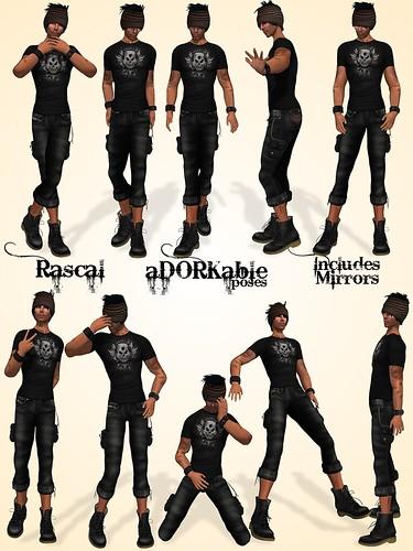 aDORKable Poses: Rascal Dork Pack