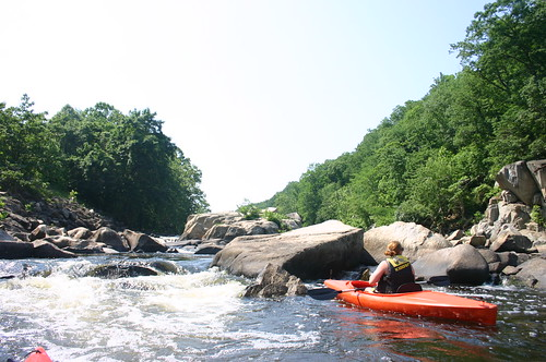 Kayaking Occoquan River - Vicky and Rocks (By Ryan Somma)