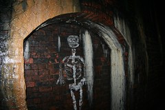 Sandsend Tunnel Skeleton Grafitti