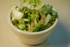 Cabbage and green onion slaw