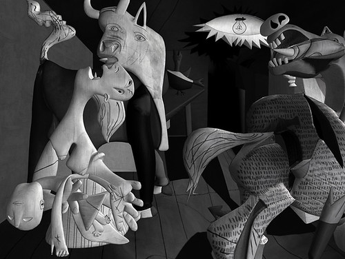 Part of Lena Giesekes Guernica Representation