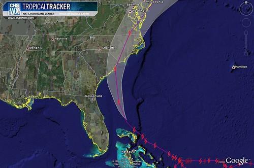 Tropical Storm Hanna, 5am Advisory:  Forecast Track