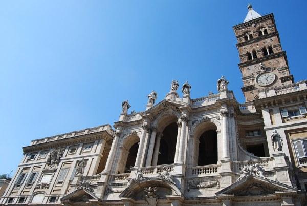 Fachada de la Basilica de Santa Maria Maggiore
