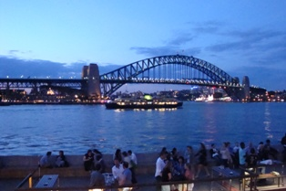 Sydney Bridge in twilight