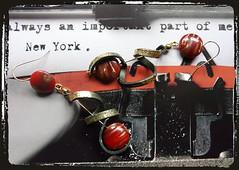 Orecchini rosso verde - Green red earrings MEHNNAK