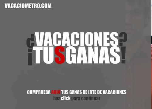 Vacaciometro, creado por Portavoz