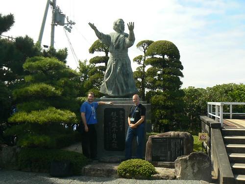 Stavanger Aikido at O`sensei statue
