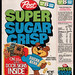 Post Super Sugar Crisp cereal box front - Super Door Signs stickers - 1976