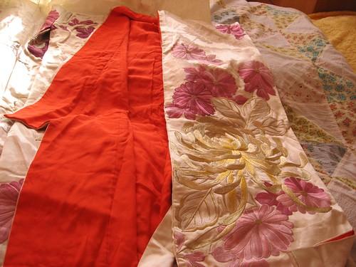 100% pure silk embroidered uchikake wedding kimono