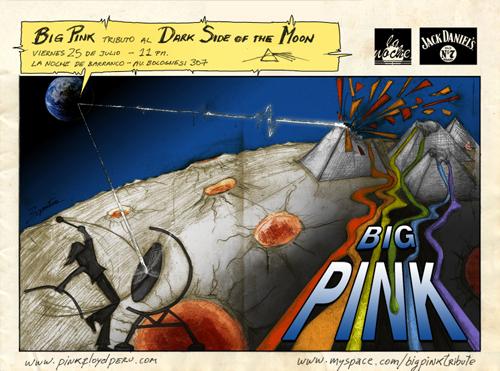 Afiche Big Pink Julio