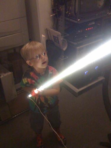 Ben's first light saber