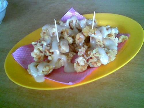 Sibu Thomson Corner sotong salad