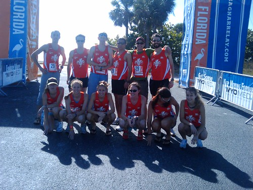 Team Road Thrill at the starting line