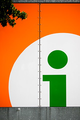Green i in orange circle by 96dpi, on Flickr