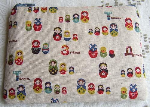 Japanese fabric matryoshka russian doll purse