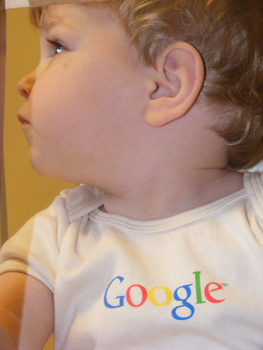 Wearing Google Onesie