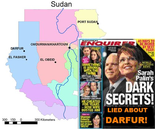 Palin Opposed divestment to Protest Darfur