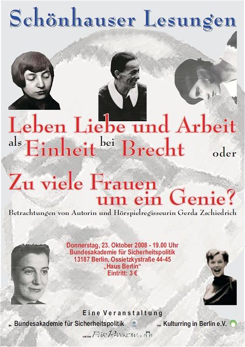 Schönhauser Lesung Brecht