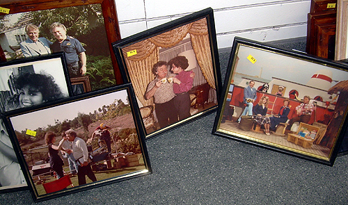 Photos in thrift store